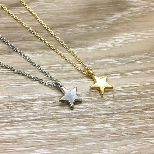 Best Friends Are Like Stars Gold Star Necklace with Colorful Card