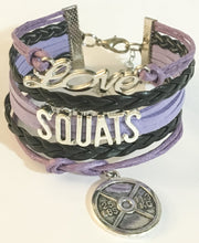 Love Squats Fitness Multilayered Charm Bracelet, Purple, Pink