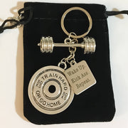 Fitness Keychain, Fitness Gifts, Kick Ass, Barbell Charm, Fitness Charms, Bodybuilding, Gym Keychain, Gift Ideas, Weightlifting, Gifts,
