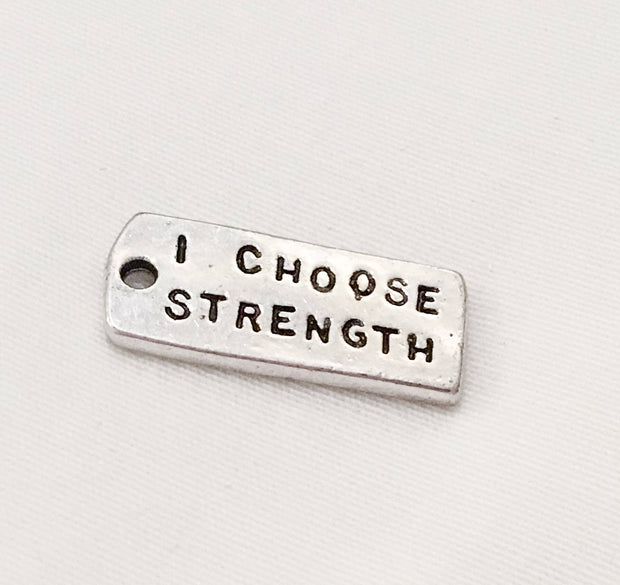 Motivational Charms, Quotes, I am Stronger, Never Give Up, Strength
