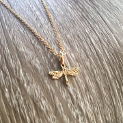 Dragonfly Necklace, Dragonflies Jewelry, Memorial Gift, Grief Necklace, Mourning Jewelry, Loss of Father Keepsake, Bereavement Gift