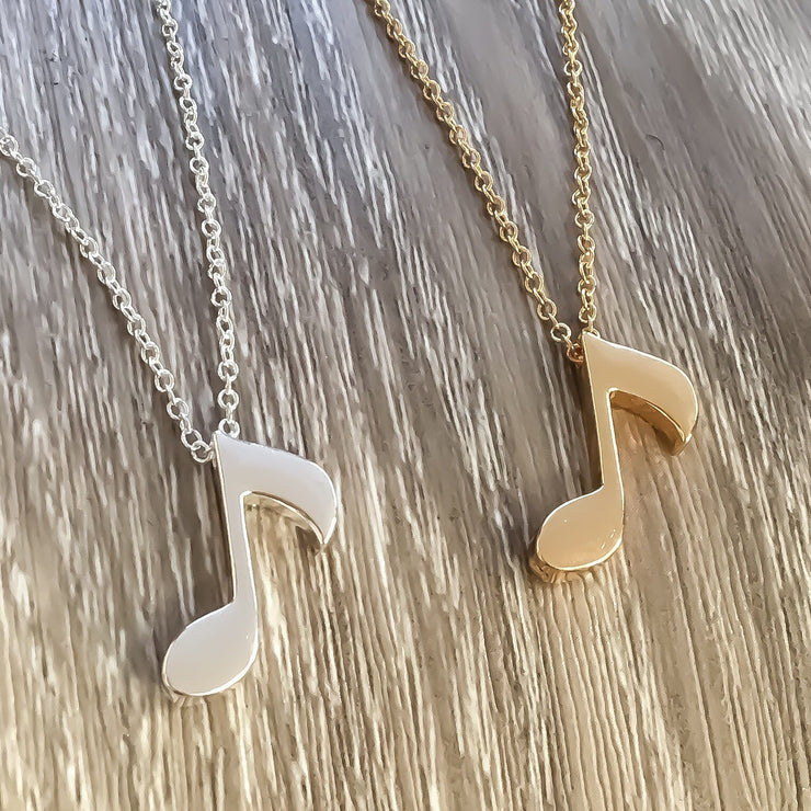 Thank You Gift, Music Note Necklace Gold, Musical Gift for Her, Thank You Note Gift, Music Teacher Gift from Student, Thankful Jewelry