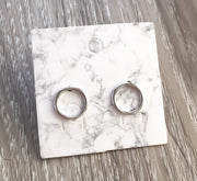 Tiny Circle Stud Earrings, Sterling Silver Jewelry, Dainty Studs, Circular Earrings, Geometric Jewelry, Simple Earrings, Everyday Jewelry