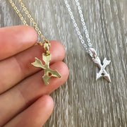 Unbiological Sister Gift, Tiny Crossing Arrows Necklace, Soul Sister Gift, Arrow Jewelry, Sister I Got to Choose Card, Sister Birthday Gift