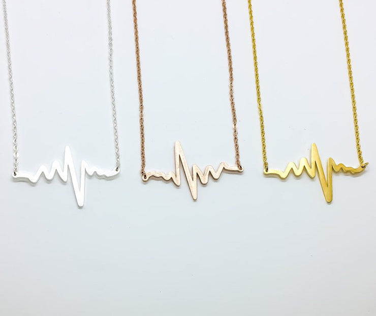 Stepdaughter Gift, Stepmother Gift, EKG Heartbeat Necklace, Blended Family Gift, Stepdaughter Jewelry, Half-Sister Gift, Stepsister Gift