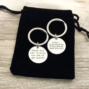 Mother of the Groom Gift, Thank You For Raising Keychain, Wedding Gift, Mother in Law Jewelry, Personalized Keychain