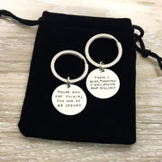 Mother of the Bride Gift, Thank You Mom Keychain, Gift from Daughter, Wedding Gift, Mother in Law Jewelry, Personalized Keychain