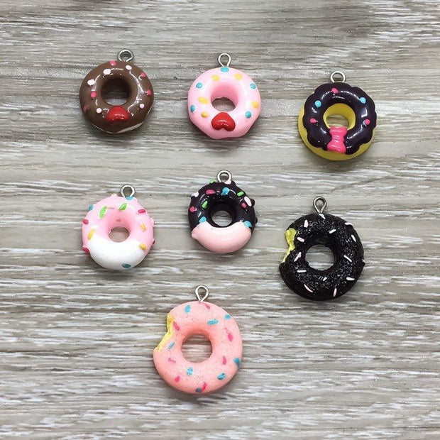 Donut Worry Be Happy, Donut Keychain, Donut Jewelry, Donut Charm, Foodie Gifts, Simple Reminder Gift for Her