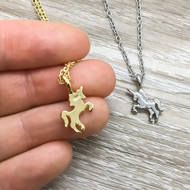 Unicorn Necklace with Gift Box, Unicorn Jewelry, Unicorn Lover Gift, Birthday Gift for Her, Dainty Unicorn Pendant, Gift for Little Girls