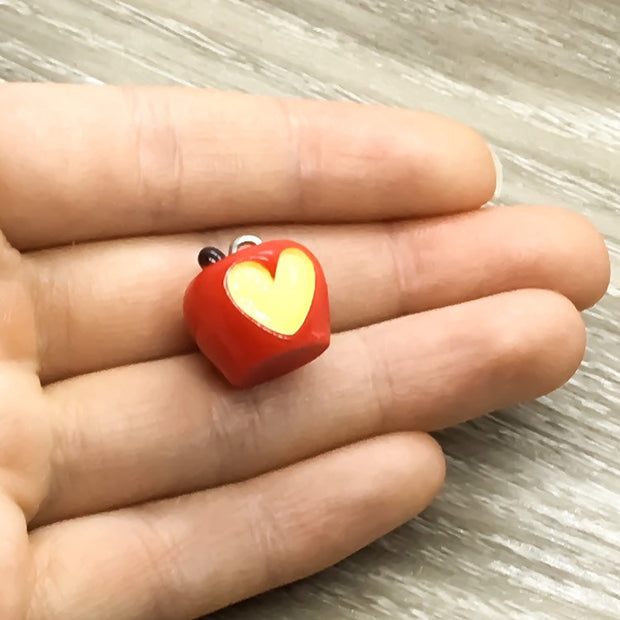 Teacher Keychain, It Takes A Big Heart to Help Shape Little Minds