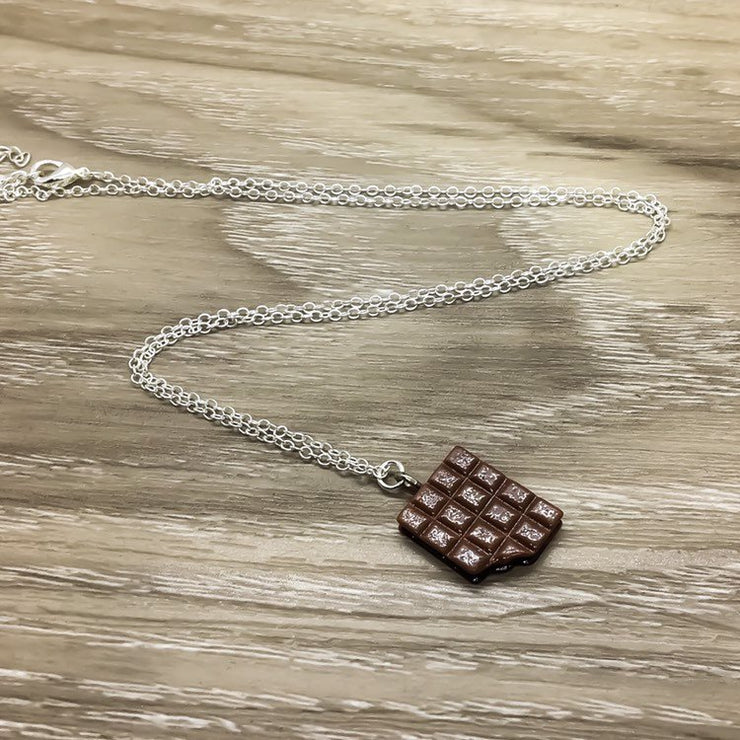 Chocolate Necklace, Friendship Gift, Chocoholic Necklace, Chocolate Therapy, Foodie Jewelry, Birthday Gift, BFF Gift