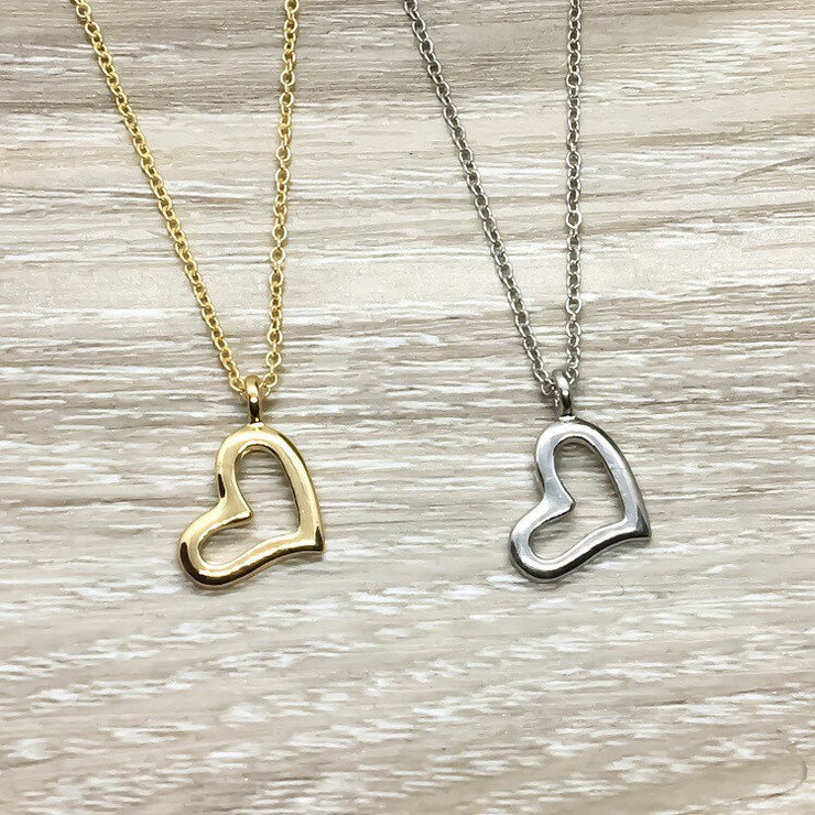 Like a Mother to Me Gift, Dainty Heart Necklace, Unbiological Mother Gift, Mother in Law Gift, Step Mom Gift, Meaningful Gift for Bonus Mom