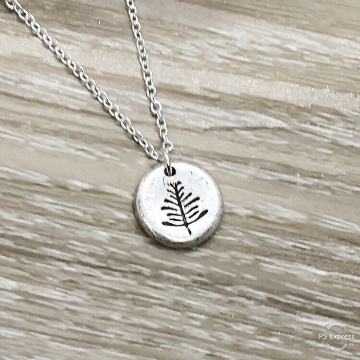 Tiny Pine Tree Necklace, Simple Silver Tree Necklace, Delicate Naturalist Necklace, Nature Lover Gift, Everyday Jewelry, Minimalist Pendant
