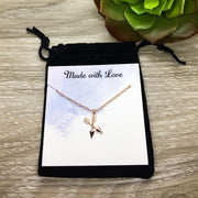 Unbiological Sisters Gift, Arrows Necklace, Sorority Gift, Crossing Arrows Pendant, Best Friend Gift, Arrow Jewelry, BFF Gift