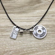 No Excuses, Fitness Charm Necklace, Fitness Lovers Gift, Gym Necklace, Workout Jewelry, Coach Gifts, Stocking Stuffers for Women