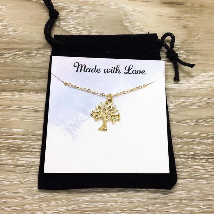 Tree Necklace, Simple Tree of Life Necklace, Delicate Knowledge Tree Necklace, Nature Lover Gift, Everyday Jewelry, Minimalist Necklace