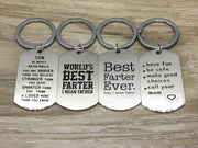 World's Best Farter Keychain, Father, Dad, Papa, Daddy, Grandpa, Grandfather, Father's Day