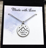 The Best View Comes After the Hardest Climb, Travel Gift, Take a Hike Necklace, Hiking Gift for Women, Graduation Gift from Bestfriend