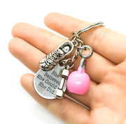 Fitness Keychain, She Believed She Could, Kettlebell Charm, Exercise Motivation Gifts, Running Shoe Charm, Coach, Personal Trainer Gift
