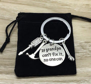 If Grandpa Can't Fix It, Father's Day Gift, Grandad Keychain, Handyman Gift from Son, Grandfather Keychain, Grandpapa Gift for Him