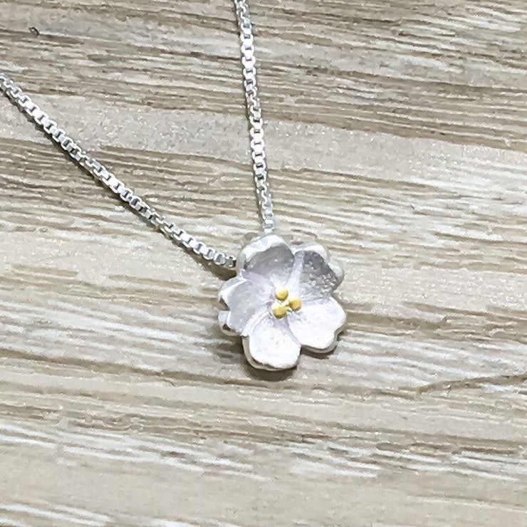 Dainty Flower Necklace, Flower Girl Proposal Gift, Flower Girl Necklace, Will You Be My Flower Girl, Bridal Party Jewelry, Flower Pendant