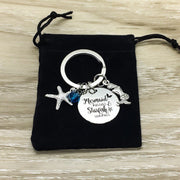 Be a Mermaid Gift, Mermaid Kisses Starfish Wishes Keychain, Mermaid Gift, Beach Keychain, Sea Life Gift, Ocean Gift, Gift for Daughter