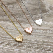 Initial Necklace, Heart-Shaped Initial Pendant, In Memory of Mom Necklace, Loss of Mother Keepsake, Remembering a Parent Gift, Sympathy Gift