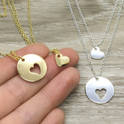 Mother Daughter Matching Necklace Set for 2, Mother's Day Gift from Daughter, Mom Jewelry, Gift for Mama, Gift for Daughter, Special Bond