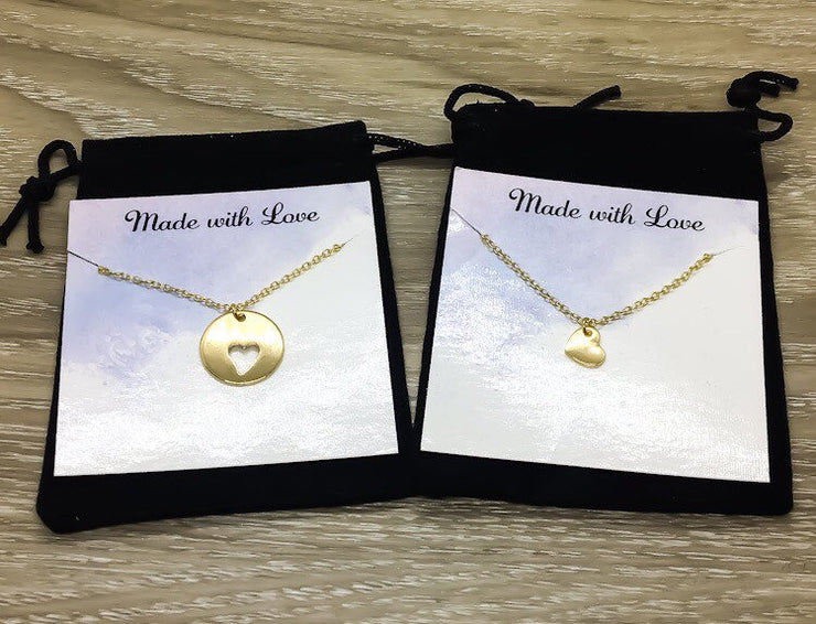 Roommate Gift, Heart Necklace Set for 2, Chance Made Us Roommates, Gift for Friend, Graduation Gift, Birthday Gift, Friendship Necklaces