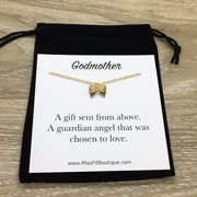Godmother Gift, Angel Wings Necklace, Gift from Goddaughter, Meaningful Jewelry, Christian Necklace, Angelic Jewelry