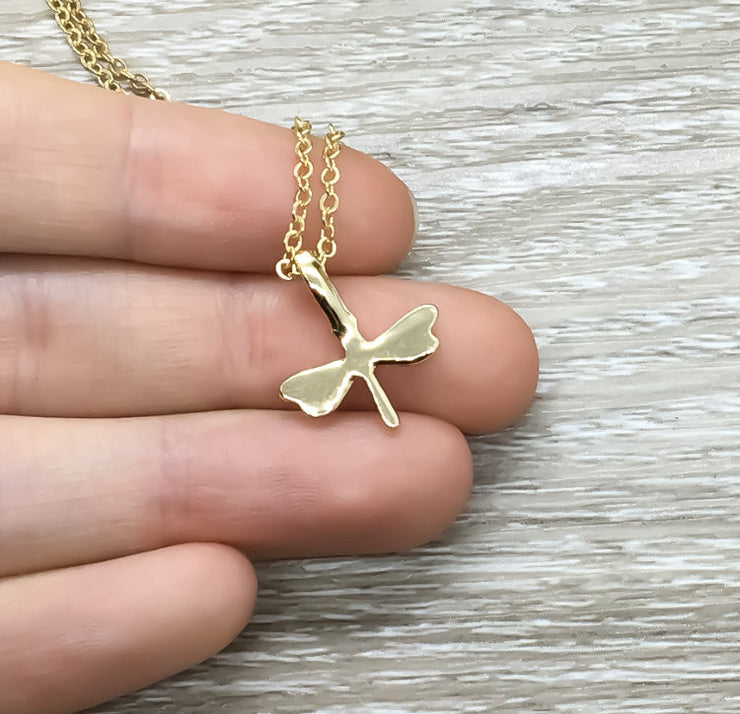 Tiny Dragonfly Necklace, Minimal Necklace, Dragonfly Jewelry, Dainty Insect Necklace, Beautiful Necklace, Friends Necklace, Birthday Gift