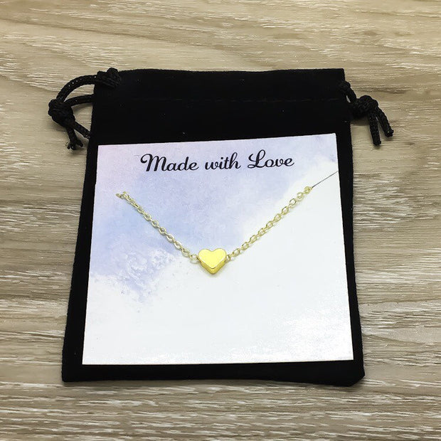 Tiny Heart Necklace with Card, Loss of Infant Gift, Miscarriage Keepsake, Early Pregnancy Loss Gift, Condolence Jewelry, IVF Infertility