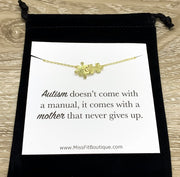 Autism Awareness Gift, Tiny Double Puzzle Necklace, Minimalist Jewelry, Dainty Jigsaw Puzzle Pendant, Mother Gift, Holiday Gift for Mom