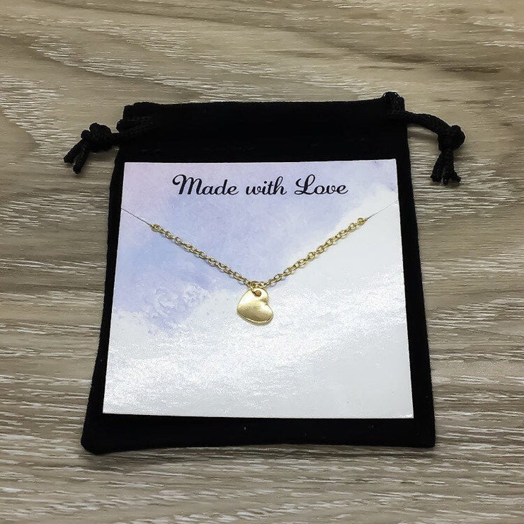Gift for your Sister, Tiny Heart Necklace, Sister Keepsake Jewelry, Sister Quote Gift, Meaningful Gift, Necklace with Card