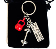 Fitness Keychain, Fitness Trainer Gifts, Lift Heavy, Red Kettlebell Keyring, Gym Keychain, Weightlifting Gifts, Gifts for Gym Lovers