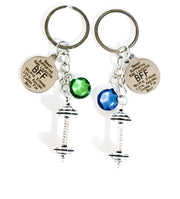 BFF Keychain, Gift for BFF, Fitness Keychain, Matching Friendship Keychains Set for 2, Birthstone, Fitness Friends Gifts, Gift for Friend