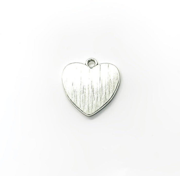 1 Heart Shaped Footprints Charm Silver, Individual Charms, Baby Charms, Mommy Charms, Mother Charms, DIY Craft, Cute Charms, Baby Pendant