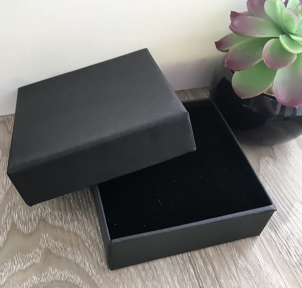 Add On Gift Box, Black Jewelry Box, Personalized Gifts, Minimalist Jewelry, Personalized Jewelry, Square Shaped Box, 10X10X3.5cm