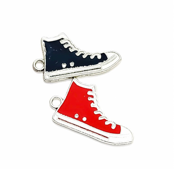1 Basketball Shoe Charm, Red or Blue