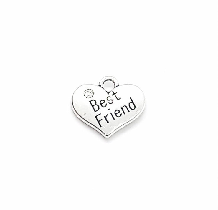 1 Best Friend Charm, Heart-Shaped