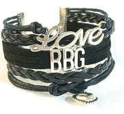 Love BBG Charm Bracelet , Fitness Gifts, Personal Trainer Gift, Friendship Bracelet, Gifts for Her, Stocking Stuffers, Holiday Gifts