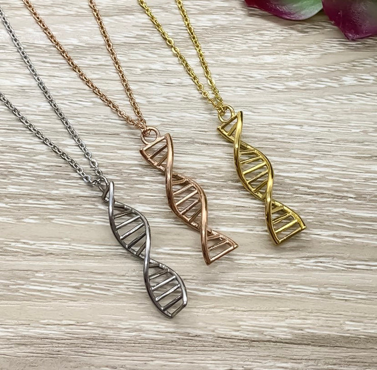 DNA Necklace, To My Other Mother Gift, Double Helix Pendant, Blended Family Gift, Bonus Mom Gift, Unbiological Mother Gift, Stainless Steel