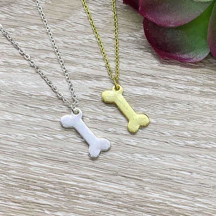 Tiny Dog Bone Necklace, Dog Lover Gift, Dainty Necklace, Dog Mama Gift, Personalized Gift, Doggie Gift, Gift for Fur Mama, Dog Owner Gift