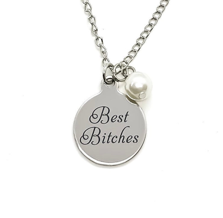 You're My Favorite Bitch, Best Bitches Charm Necklace, Friendship Necklace, Bestie Gift, Sorority Gift, Best Friend Necklace, Holiday Gift