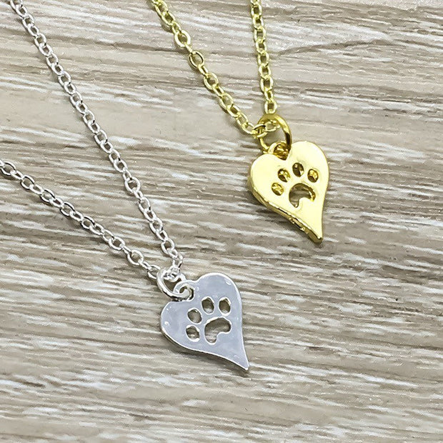 Happy Birthday Card, Cat Paw Necklace, Crazy Cat Lady Gift, Cat Lover Gift, Personalized Gift, Funny Birthday Card, Gift for Best Friend