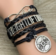 Weightlifting Charm Bracelet , Fitness Gifts, Personal Trainer Gift, Friendship Bracelet, Gifts for Her, Stocking Stuffers, Holiday Gifts