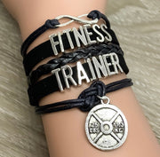 Fitness Trainer Charm Bracelet , Fitness Gifts, Personal Trainer Gift, Thank You Gift, Gifts for Her, Stocking Stuffers, Christmas Gifts