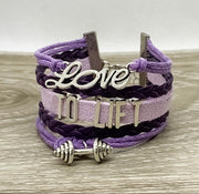 Love To Lift Charm Bracelet, Girls Who Lift Gift, Fitness Gifts, Personal Trainer Gift, Friendship Bracelet, Stocking Filler, Christmas Gift