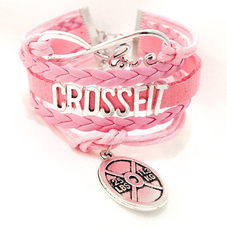 Crossfit Charm Bracelet , Fitness Gifts, Personal Trainer Gift, Friendship Bracelet, Gifts for Her, Stocking Stuffers, Holiday Gifts