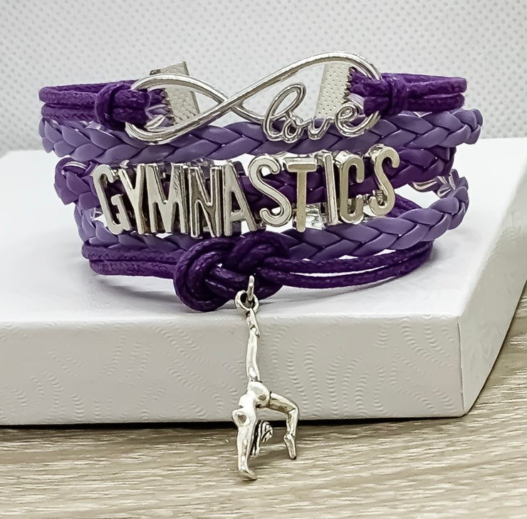 Gymnastics Charm Bracelet, Fitness Gifts, Gymnast Jewelry, Trainer Gift, Gymnastics Gifts, Friendship Bracelet, Stocking Stuffer, Christmas